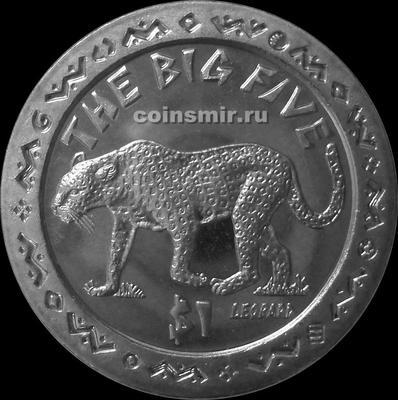 1 доллар 2001 Сьерра-Леоне. Большая пятёрка. Леопард.