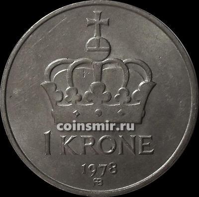 1 крона 1978 Норвегия.