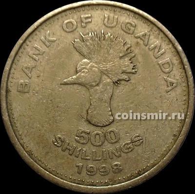 500 шиллингов 1998 Уганда. Восточноафриканский венценосный журавль. VF