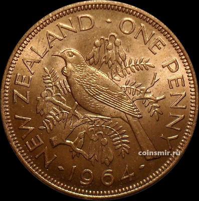 1 пенни 1964 Новая Зеландия. UNC