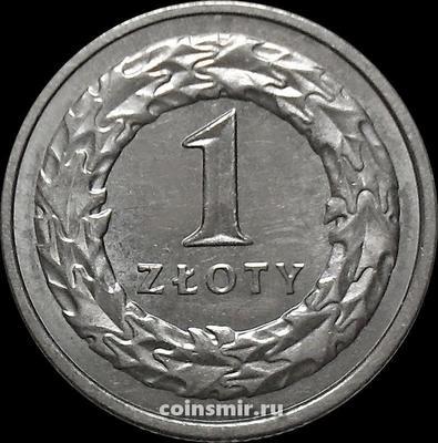 1 злотый 1992 Польша.