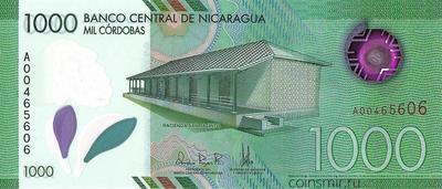 1000 кордоб 2017 (2019) Никарагуа.