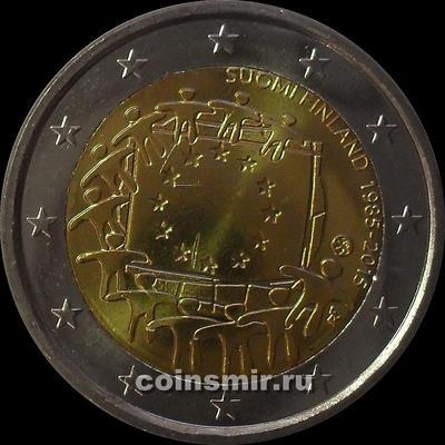 2 евро 2015 Финляндия. 30 лет флагу Европы.