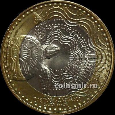 1000 песо 2016 Колумбия. Черепаха.