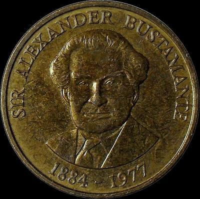1 доллар 1993 Ямайка. Александр Бустаманте. (в наличии 1994 год)