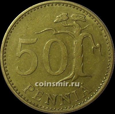 50 пенни 1975 S Финляндия.