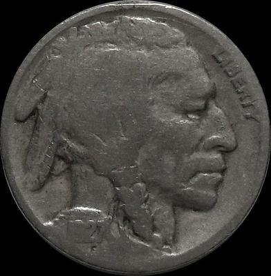 5 центов 1927 США. Индеец.