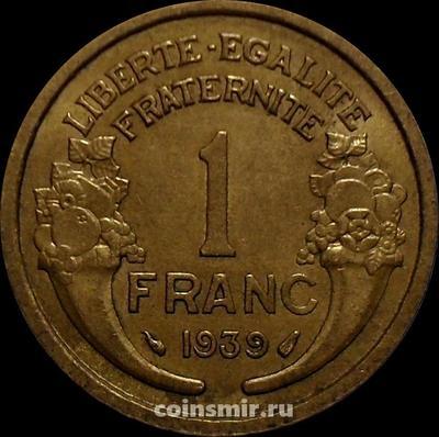 1 франк 1939 Франция.