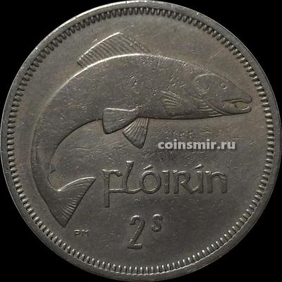 1 флорин (2 шиллинга) 1959 Ирландия. Лосось.