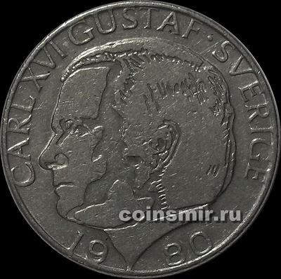 1 крона 1980 Швеция. (в наличии 1981 U)