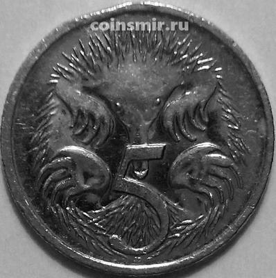 5 центов 2007 Австралия. Ехидна. Состояние на фото.
