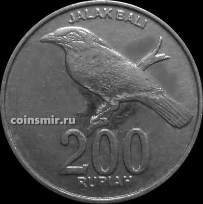 200 рупий 2003 Индонезия. Балийский скворец. VF-XF