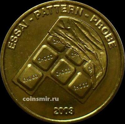 10 евроцентов 2003 Швейцария. Шоколад. Европроба. Ceros.