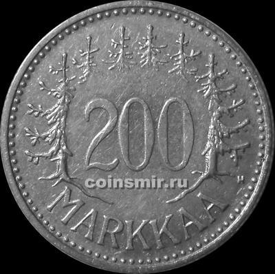 200 марок 1957 Н Финляндия. (в наличии 1956 год)