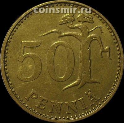 50 пенни 1976 К Финляндия. (в наличии 1973 S)