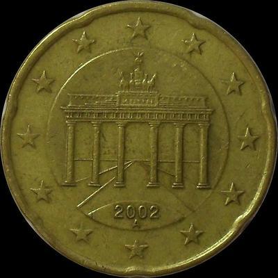 20 евроцентов 2002 А Германия.