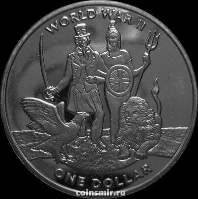 2 фунта 2019 Британские Виргинские острова. Вторая мировая война. 1939-1945.