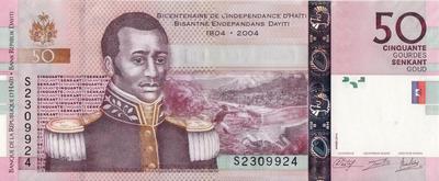 50 гурдов 2014 Гаити. 200 лет независимости Гаити.