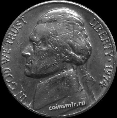 5 центов 1974 США. Томас Джефферсон.
