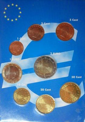 Набор евро монет 2005 Люксембург.