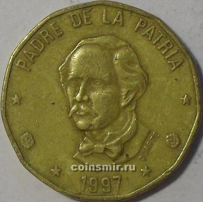 1 песо 1997 Доминиканская республика.