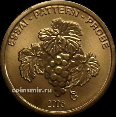 10 евроцентов 2006 Словения. Европроба. Xeros-ceros. Виноград.