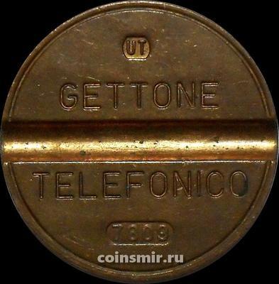 Жетон телефонный Италия. UT - Urmet Torino.