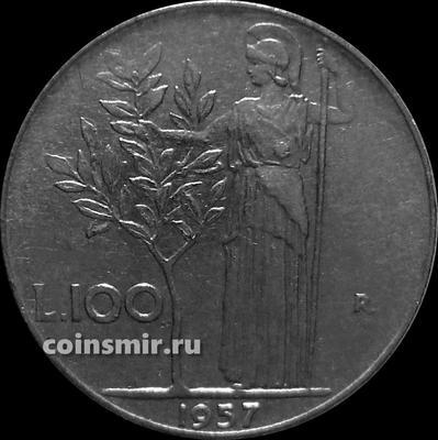 100 лир 1957 Италия.