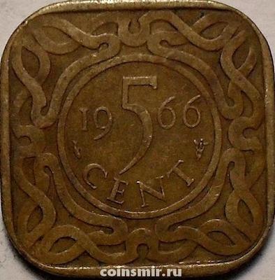 5 центов 1966 Суринам.