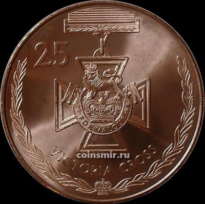 25 центов 2017 Австралия. Медали почета. Крест Виктории.