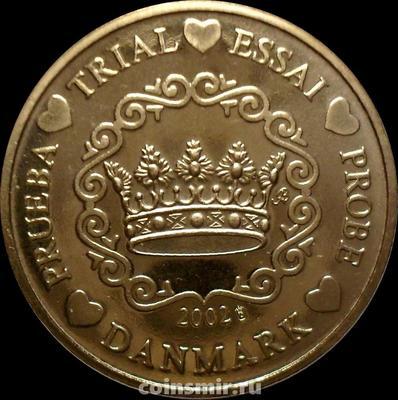 50 евроцентов 2002 Дания. Европроба. Specimen.