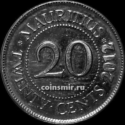 20 центов 2012 Маврикий.