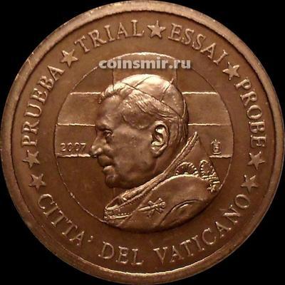 1 евроцент 2007 Ватикан. Портрет. Европроба. Specimen.