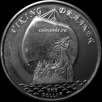 1 доллар 2019 острова Гилберта. VIKING DRAAKER.