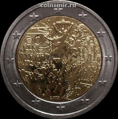 2 евро 2019 F Германия. 30-летие падения Берлинской стены.