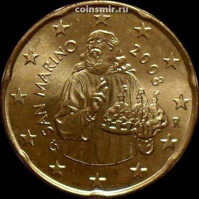 20 евроцентов 2008 Сан-Марино. Святой Марино.