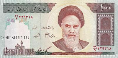 1000 риалов 1992 - 2014  Иран.