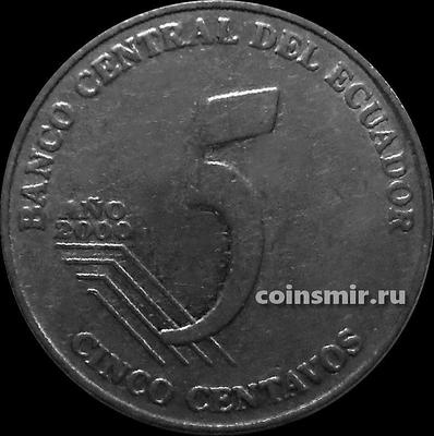 5 сентаво 2000 Эквадор. Хуан Монтальво.