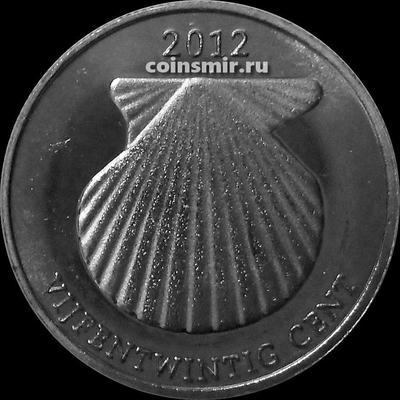 25 центов 2012 остров Саба.