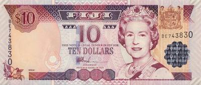 10 долларов 2002 Фиджи.