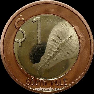 1 доллар 2013 Южный полюс.