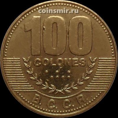 100 колонов 2014 Коста-Рика.