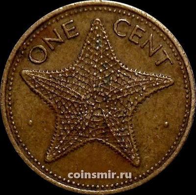 1 цент 1982 Багамские острова. Морская звезда.