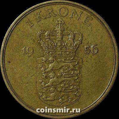 1 крона 1956 Дания.