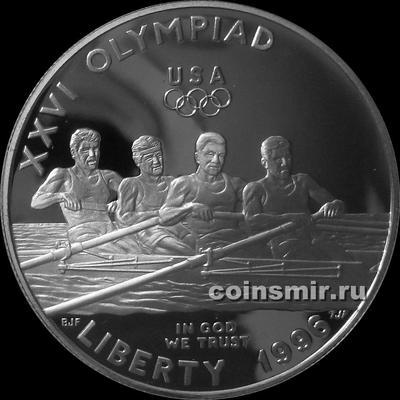 1 доллар 1996 Р США. Олимпиада в Атланте 1996. Гребля.