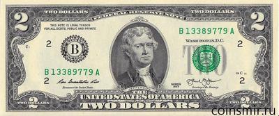 2 доллара 2013 В США.
