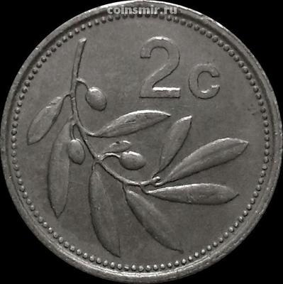 2 цента 1995 Мальта. Оливковая ветвь.
