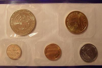 Набор из 5 монет 2002 Р США.
