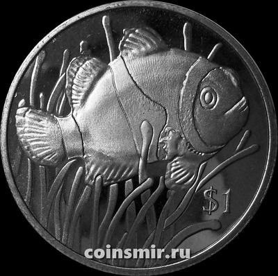 1 доллар 2018 Британские Виргинские острова. Рыба-клоун.