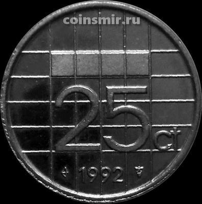25 центов 1992 Нидерланды.